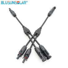 1pair MC4 Connector 2 IN1 Parallel Branch Y T Type Male to Female DIY Solar Kits System MXY2AB