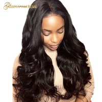 Glueless Body Wave Lace Front Wigs Human Hair Unprocessed Malaysian Remy Hair Lace Wigs for African American Women 130% Density