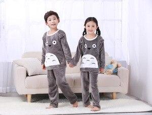 Image 4 - 4 15Y Cartoon Jongen Meisjes Pyjama Sets Pluche Warm Peuter Meisje Nachtkleding Kleding Baby Broek Kids Nachtjapon Kleding Homewear HONG01
