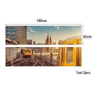 Image 3 - Настенный стикер на кровать, городской поезд, метро, украшение для спальни, ПВХ