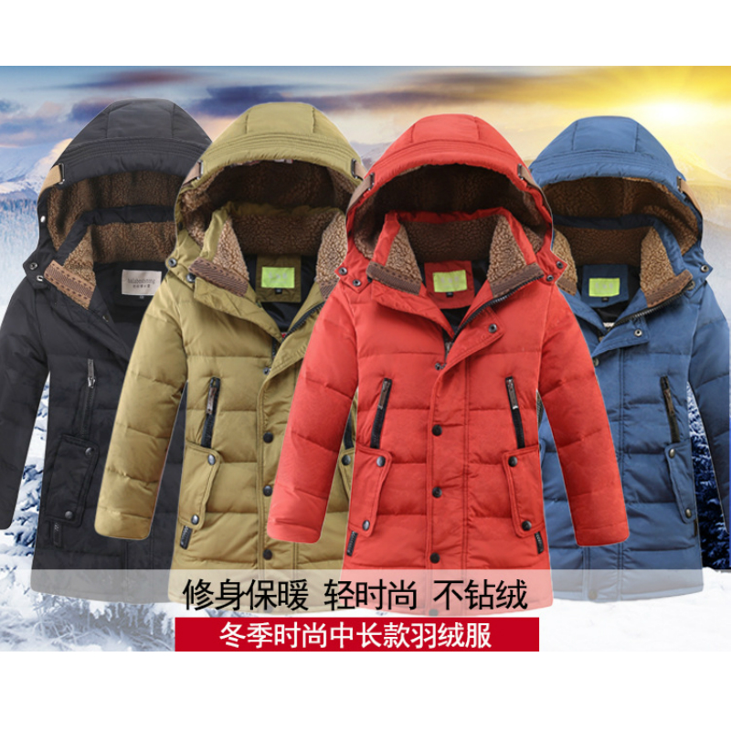 2018 Boys Winter Parkas Coats Fur Lined for Boy Down Jacket Outwear Age 6 to 14 years old Kids High Quality Children Clothes 2 14t baby boy clothes boys jacket leather spring letter boys outwear for children kids coats for boys baseball sweatershirt