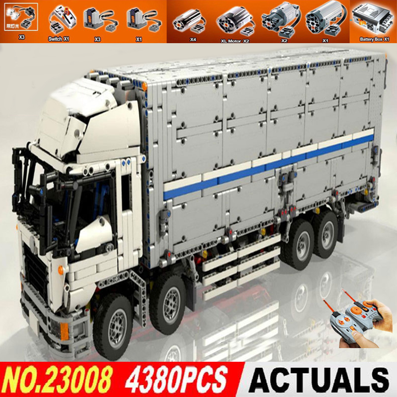 Building Block Bricks Technic Series Compatible 1389 The MOC Wing Body Truck Toys for Kids DIY Gifts Lepin 23008 technic truck 23008 4380pcs technical series the moc wing body truck set compatible with 1389 educational building blocks children toys