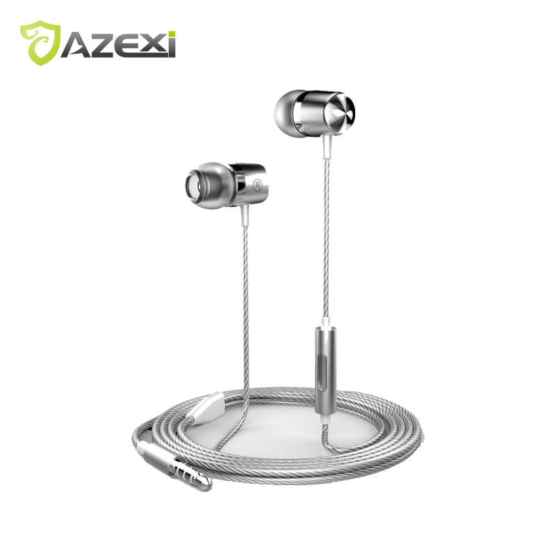 Azexi ECW-130H Fine Metal In-Ear Earphones Stereo Sound With Mic exquisite sports earphone for iPhone 7 Huawei Xiaomi Nokia OPPO huawei honor am115 earphones with mic in ear sports earphone wired music headsets for xiaomi huawei android htc oneplus asus