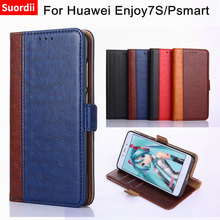 ФОТО for huawei p smart case huawei psmart cover 5.65 luxury wallet pu leather back cover phone case for huawei enjoy7s stand holder