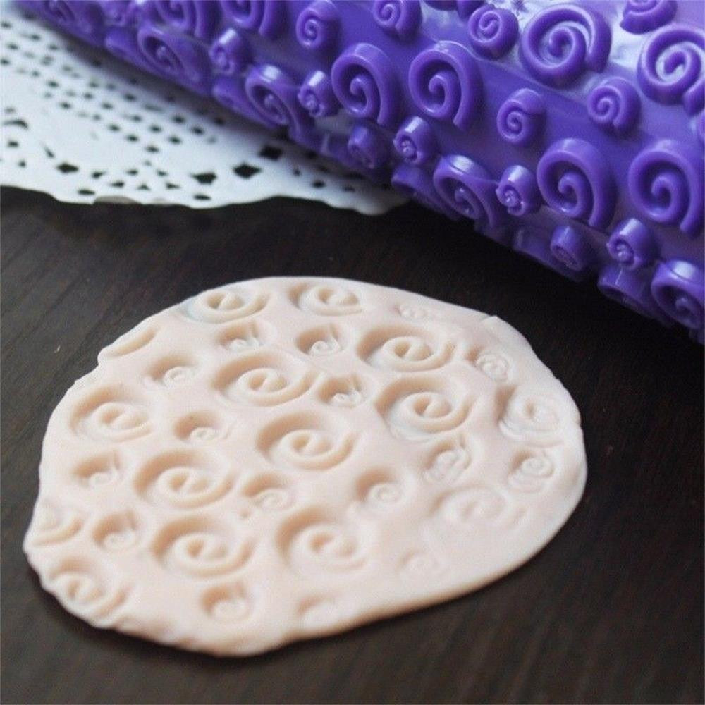 Plastic Embossing Rolling Pin as Pastry/Cake Decorating Tools in Various-Pattern 3