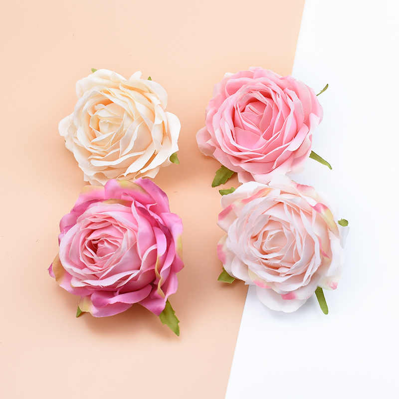 1/6/10 Pieces Quality rose silk flowers wall fake plants diy wedding home decor accessories artificial flowers for decoration