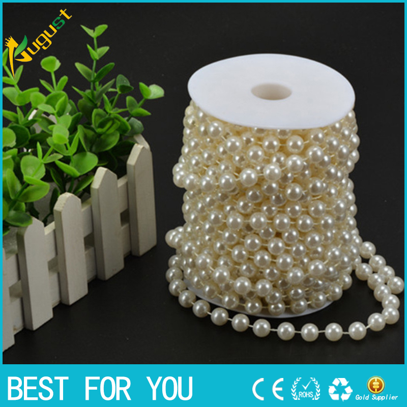 5 rolls/lot connection beads 20 meters ABS imitation pearls DIY doors and windows <font><b>curtain</b></font> fence decoration hanging bead