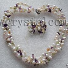 Серьги из белого жемчуга, ожерелье из настоящего натурального пресноводного жемчуга, комплекты из полудрагоценных камней