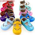Bebé zapatos de Bebé de Cuero de Vaca Mocasines de Suela Blanda Zapatos Del Bebé Niña Recién Nacido de Zapatos de Bebé Primeros Caminante Envío Gratis