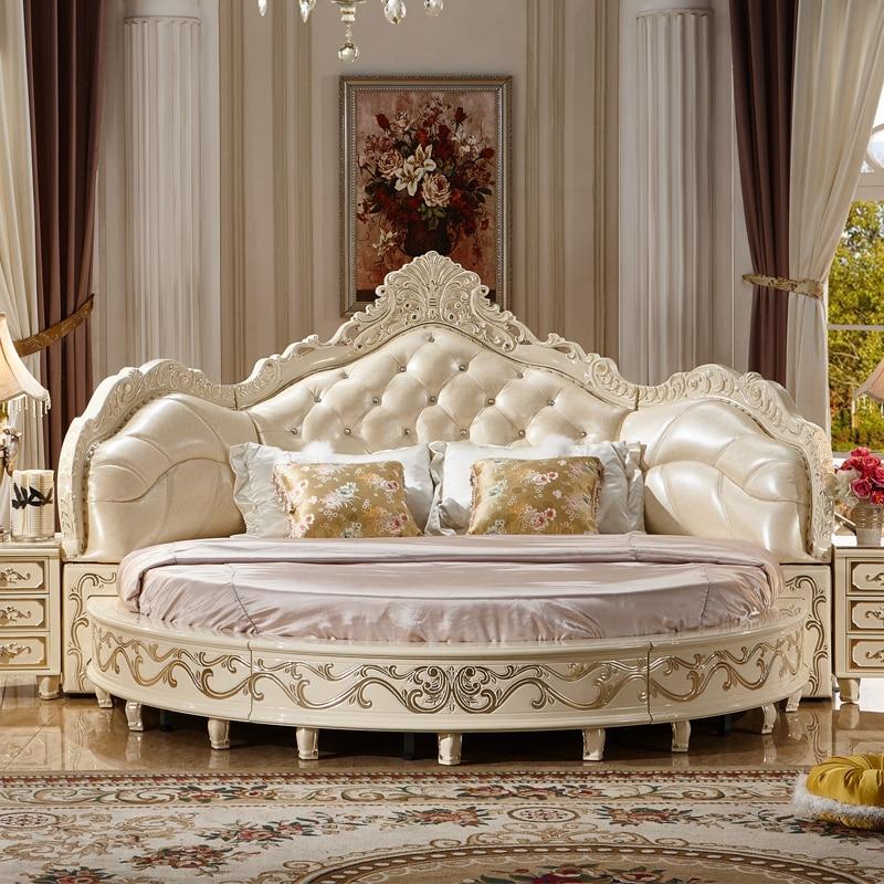 Modernen Europäischen Elegante Edle Stil Kingsize-bett Runden Preis Betten