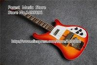 Hot Selling 22 Frets Rick Bass Guitar In CS Cherry Sunburst 4 String Bass With Striple