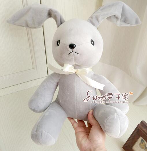 Корейский отдела чистый цвет кролика ребра свет с мехом кролика и плюшем серый меховые наушники может быть стереотипы ребенка, чтобы успоко…