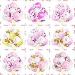 15 шт./лот Единорог розовое золото, с пайетками воздушный шар детское платье на день рождения комплект День Рождения вечерние день партия