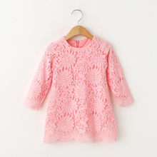 Mode bébé fille dentelle infantile fleur robe princesse 2017 d'été style robe filles vêtements