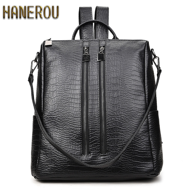 New Fashion PU Leather Backpacks For Teenage Girls 2017 Woman Backpack Designers Sac A Dos Kpop Back Pack Women Brand Bagpack