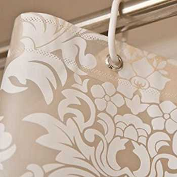 UFRIDAY Damask Floral Shower Curtain PEVA Bathroom Curtains Thick Polyester Butterfly Bath Curtain Waterproof Mouldproof Cortina