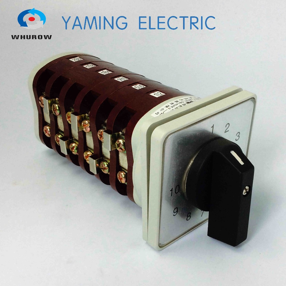 Interrupteur rotatif 10 positions commutateur à came 6 pôles commutateur inverseur 63a bx6 fabricant de machines à souder