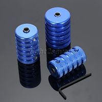 3pcs Aluminum Alloy Knurled Blue Tattoo Grip Stainless Steel Kit Set 25 30 35mm For Tattoo