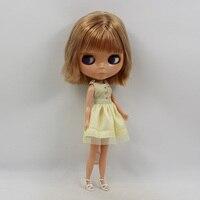 Boneca negra pelo corto desnudo Blyth muñeca baby dolls for girls BL3504 blyth muñecas Al Por Mayor para la venta
