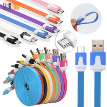 10pcs 3m 10ft Micro USB Cable Fast Charging Data Sync Flat Noodle Cable for Samsung Xiaomi Huawei LG HTC Android Phone Cables short flat micro usb data sync charging cable for samsung s4 s3 for lg for htc cellphones
