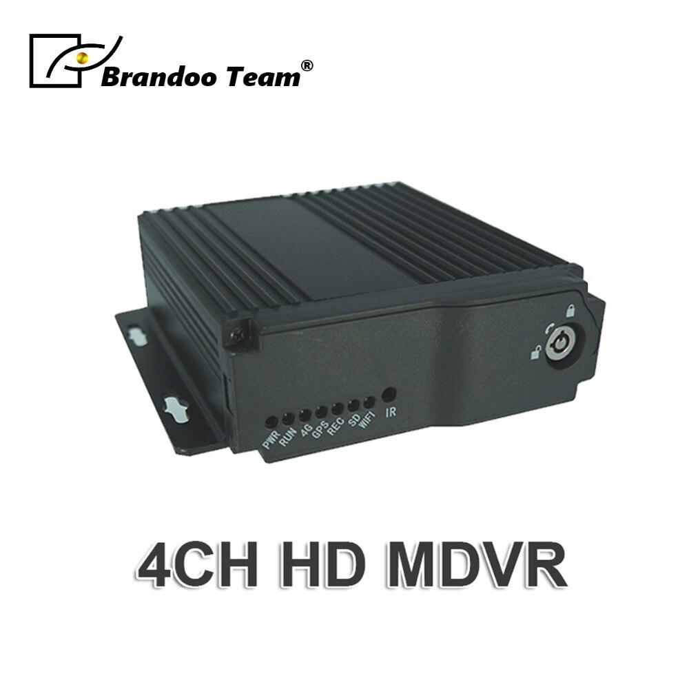 Promotion, 4G GPS 4CH AHD Voiture MDVR Mobile enregistreur vidéo, Formation DVR de voiture taxi bus DVR, soutien Russe/Anglais menu