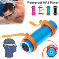 IPX8 Waterproof MP3 Player Built-in 4GB  Swimming Diving Sports Mp3 Player with FM Radio Headphones USB Charging Cable Arm Brand