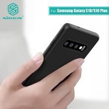 Nillkin Nylon PC plastique couverture arrière pour Samsung Galaxy S10 housse de protection 6.1 pour Samsung S10 Plus 6.4 / S10e Lite 5.8