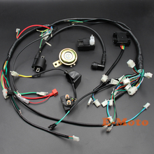 zongshen loncin lifan 150 200cc 250cc atv gy6 quad full electric parts wire  harness loom solenoid