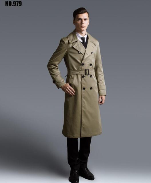 2c6951d4441 2016 hommes mode slim manteau trench long classique long manteau hommes  hiver manteau vêtements pour hommes