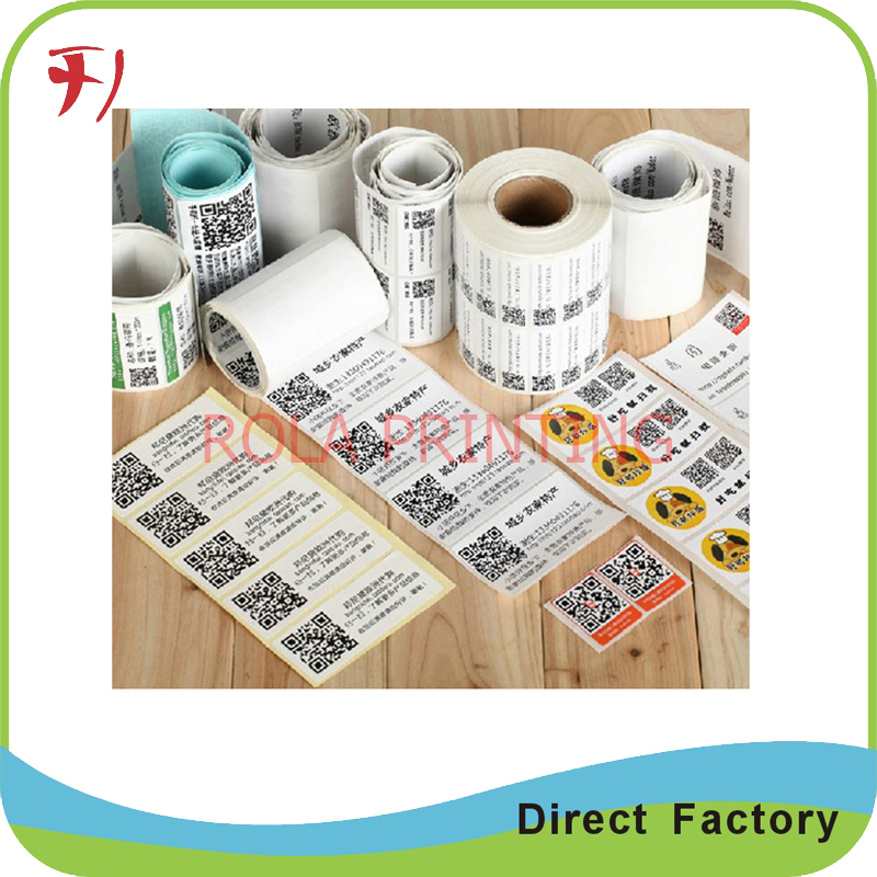Customized Professional Qr code printing on paper/PET/PE/PP