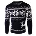 Тянуть Homme Стильный Рождество O-образным Вырезом Животных Полное Фирменное Одежда Свитер Мужчин Кардиган Sueter Hombre Мода A5