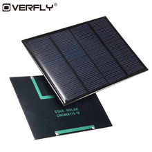 Overfly Solar Panel 1.5W 18V Solar Cells DIY Polycrystalline Silicon System Energy Board Solar Panel For Battery Charger