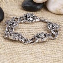 Skull Stainless Steel Charm bracelet