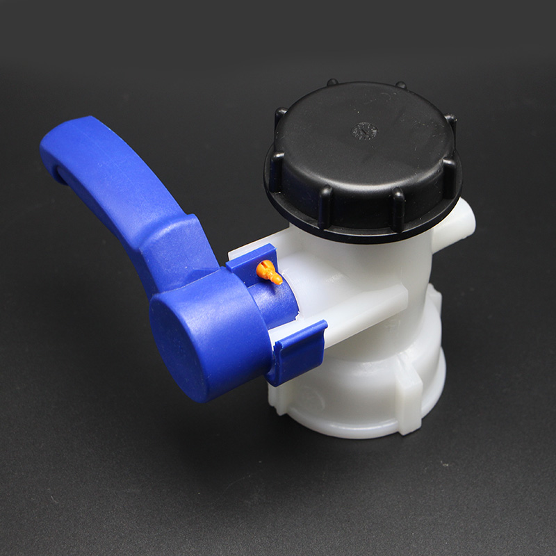 IBC tank container 1000 liters 62mm (DN40) Butterfly Valve ibc water tank 62mm dn40 screwable ball valve square coarse thread