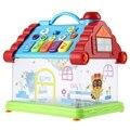 Divertido casa musical piano de juguete eléctrico luces de las estrellas kids toys aprendizaje temprano inteligente máquina brithday regalos de navidad navidad