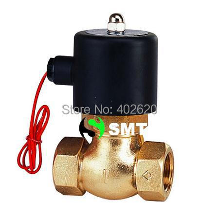 Free shipping, 1pcs 1/2'' Ports Steam Valve Brass 2/2 Way N/C 2L170-15 , US-15 PTFE Guide brass Valves 1 2bspt 2position 2way nc hi temp brass steam solenoid valve ptfe pilot