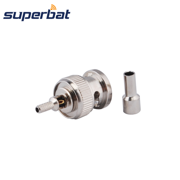 Superbat BNC Crimp Male Plug connector for RG174 RG316 1.13mm 1.37mm cable