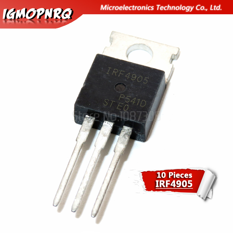 10pcs IRF4905 IRF4905PBF TO-220 74A 55V 200W MOS FET P Channel Field Effect New Original