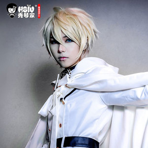 Image 3 - HSIU Mikaela Hyakuya cosplay wig Seraph of the End costume play wigs Halloween costumes hair free shipping NEW High quality