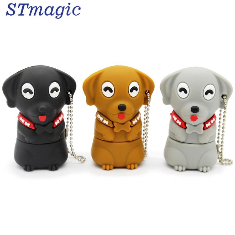 STmagic new style cartoon pen drive dog usb flash drive 4GB 8GB 16GB 32GB 64GB cartoon gift free shipping cartoon usb 2 0 flash drive red black 8gb
