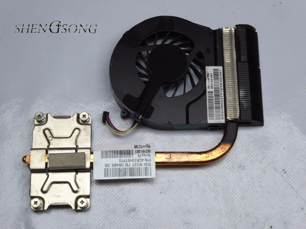 Cooler for HP G4 G6 G7 G4-2000 G7-2000 G6-2000 CPU cooling heatsink with fan 680549-001 683191-001 683193-001 685477-001 UMA new forcecon dfs551005m30t fadl cooling fan for hp cq43 cq57 647316 001 cpu cooling fan with heatsink