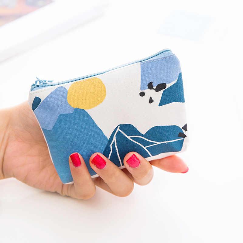 Moda de nova bolsa portátil mini mudança pacote de armazenamento bonito pacote de chaves arte fresco