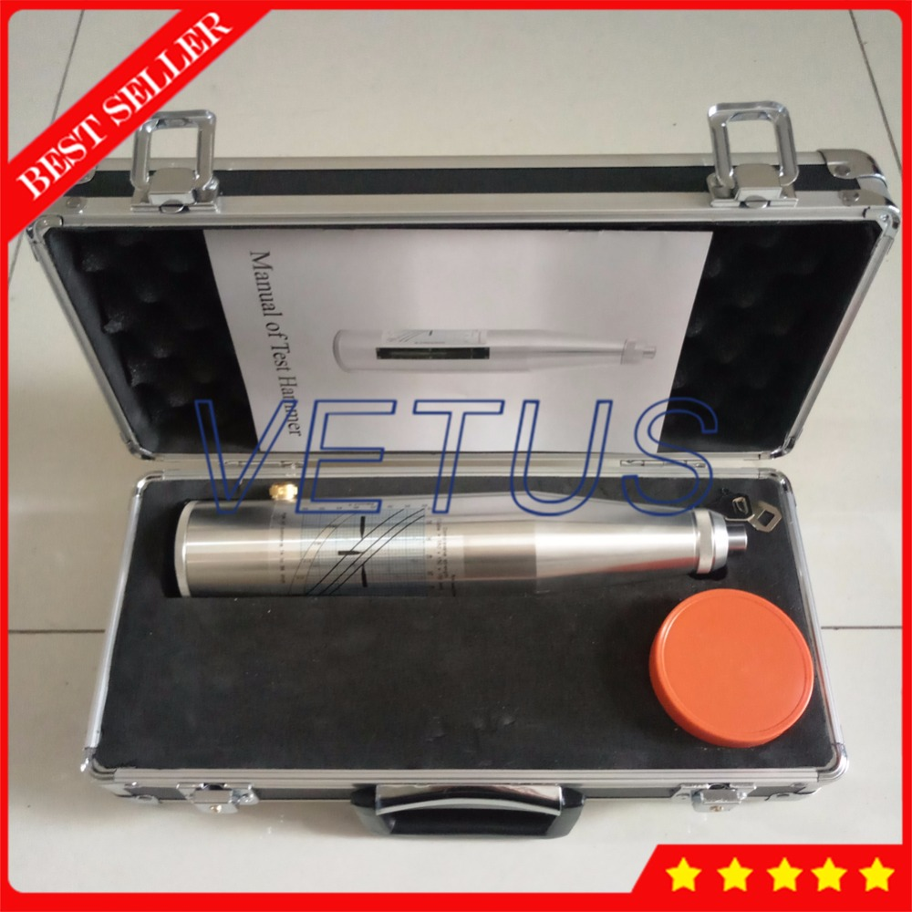 HT 225 Portable Concrete Rebound Test Hammer with 10 60Mpa resiliometer Testing Equipment high Aluminum material