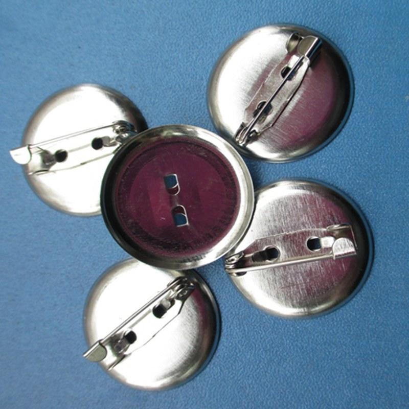 100 pcs 20mm Métal Broche Ronde Fermoirs Pin Disque Conclusions Fournitures Bricolage Plaque De Base Argent 02501104