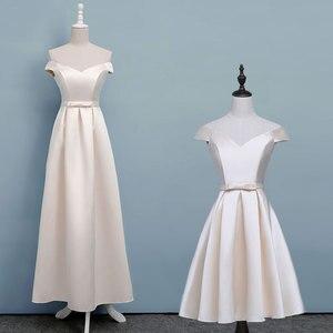 Image 3 - ASL DK # Phối Ren Champagne Ngắn Xếp Ly Eo Thời Trang Dự Tiệc Cưới váy Đầm váy xòe nữ thời trang giá rẻ bán buôn quần áo
