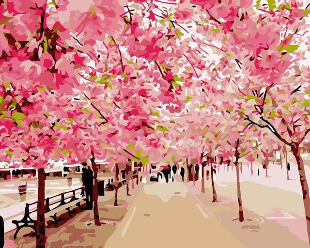 Hq Romantique Rencontres Sous La Fleur Peinture A L Huile Par