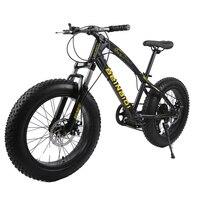 20 дюймов Fat Bike/Snow Bike, ширина колеса 4,0, рама из высокоуглеродистой стали, обод из алюминиевого сплава, Hydraumatic дисковые тормоза, 7 скоростей