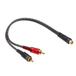 Автомобильный аудио 1 RCA Женский 2 RCA Мужской Y сплиттер кабель конвертер Шнур адаптер кабель для автомобильной аудиосистемы MP3 для телефона