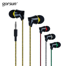 Gorsun A340 Earphones 3.5mm Plug Jack Wired Earphone In-ear Deep Bass Headset for sports iphone Xiaomi