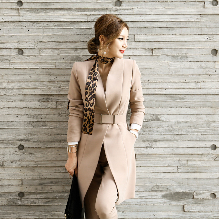 2017 Autumn Outfit In The New Dress Suits Cultivate One's Morality Show Thin Trousers Two-piece Long Suit